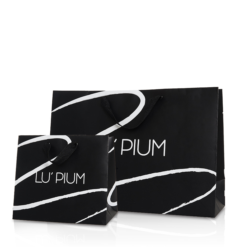 LU PIUM BLACK LINE TOUCH BAG (BIG/SMALL)